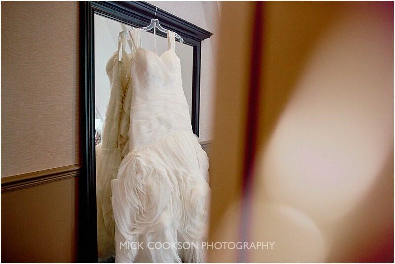 wedding dress at King Street Townhouse taken by manchester wedding photographer mick cookson