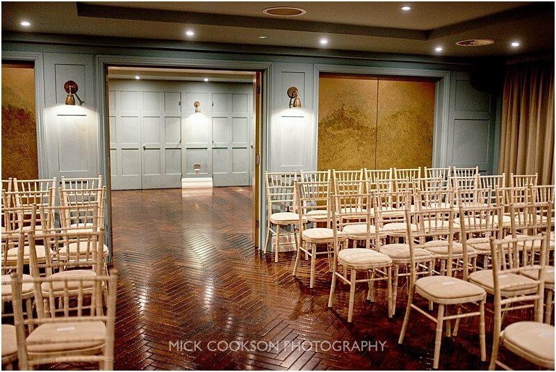 ceremony room at king street town house taken by manchester wedding photographer mick cookson
