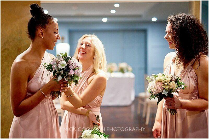 bridesmaids having fun at king street town house