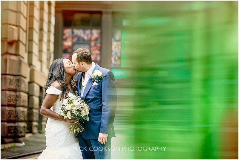 bride and groom photo in manchester by manchester wedding photographer mick cookson
