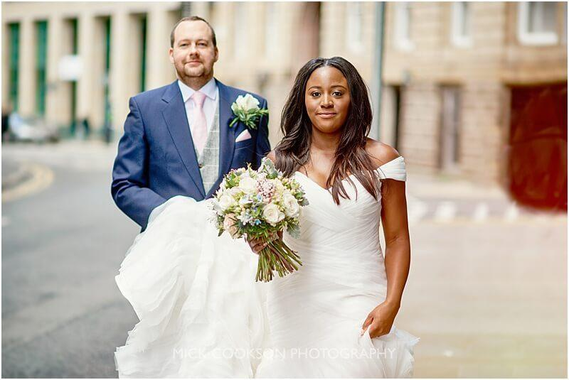 candid wedding photo in manchester by manchester wedding photographer mick cookson