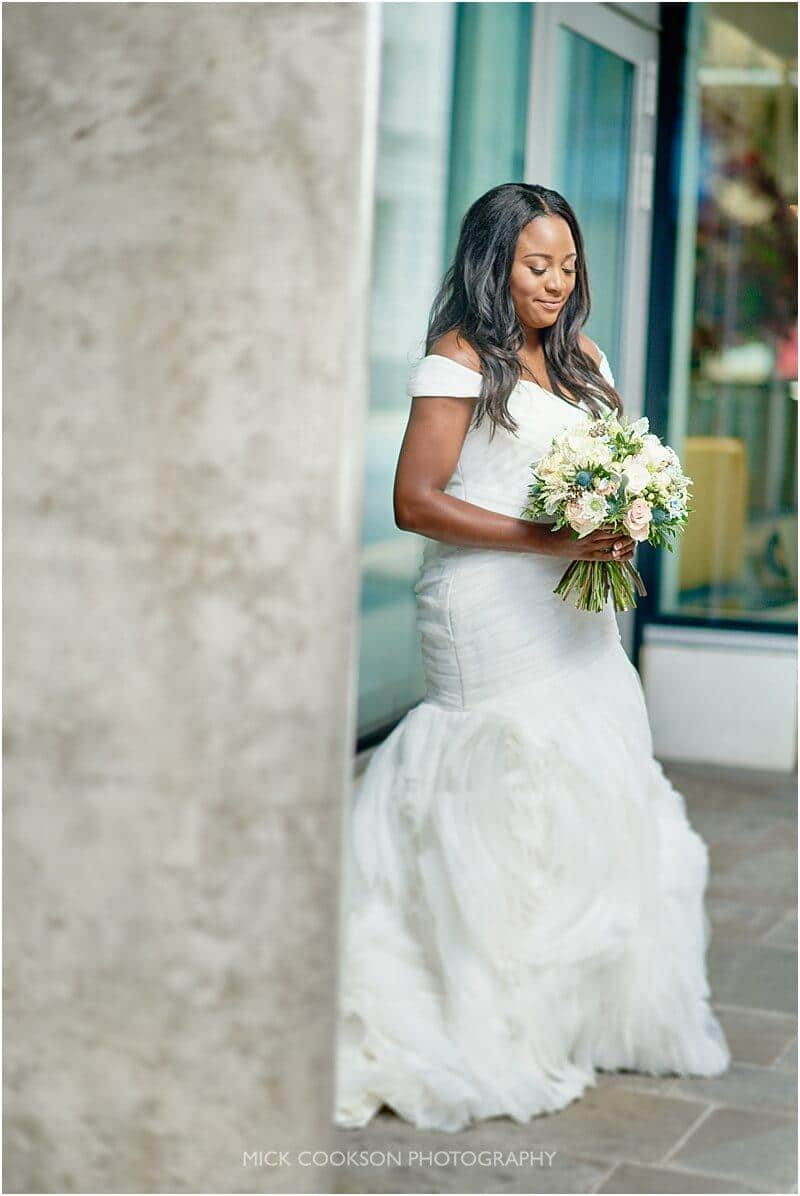stunning bride in manchester taken by manchester wedding photographer mick cookson