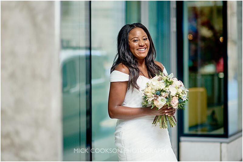 stunning afro caribbean bride in manchester