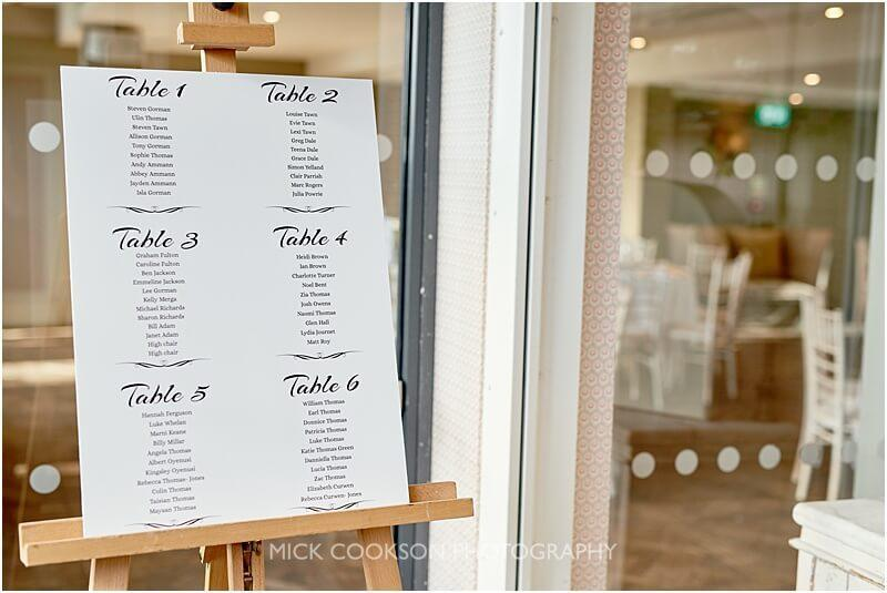table plan at a king street townhouse wedding