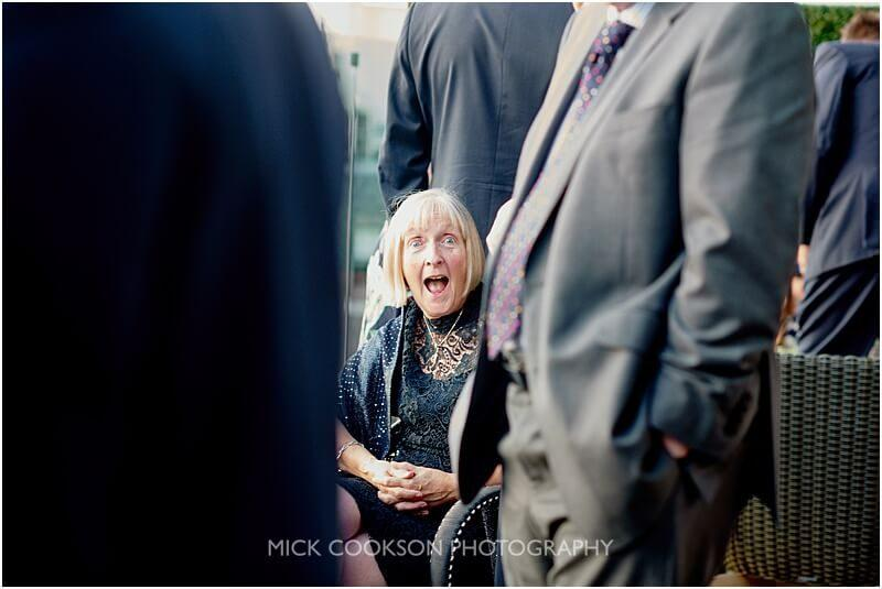shocked wedding guest at a king street townhouse wedding