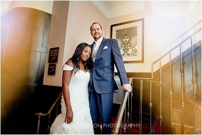 natural bride and groom wedding photo at king street townhouse taken by manchester wedding photographer mick cookson