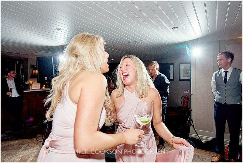 bridesmaids dancing at king street townhouse