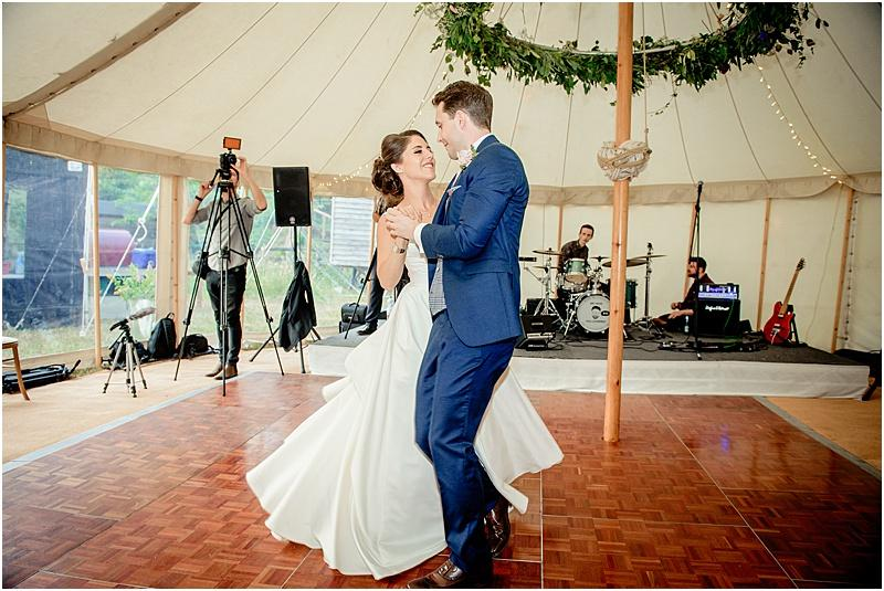 first dance at a marquee wedding