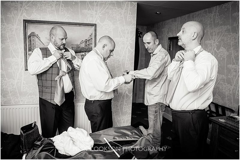 groomsmen at gibbon bridge wedding venue