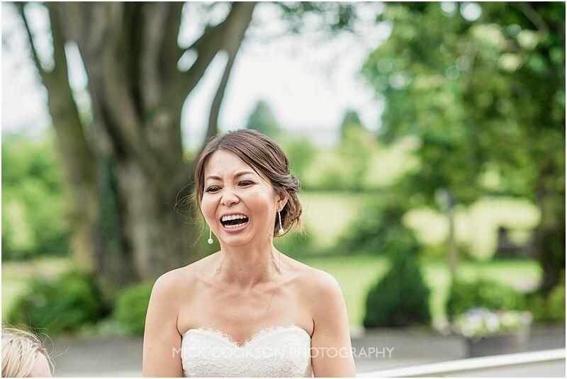 happy malaysian bride at stirk house