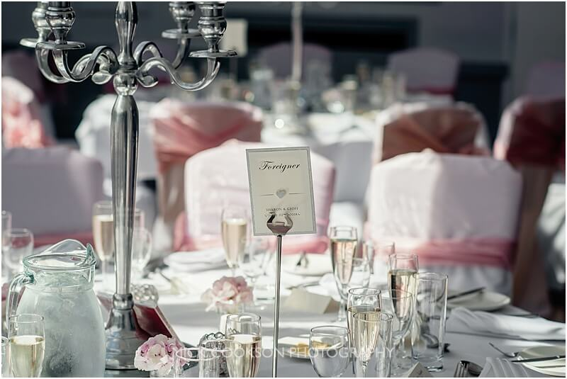 wedding table place setting at stirk house