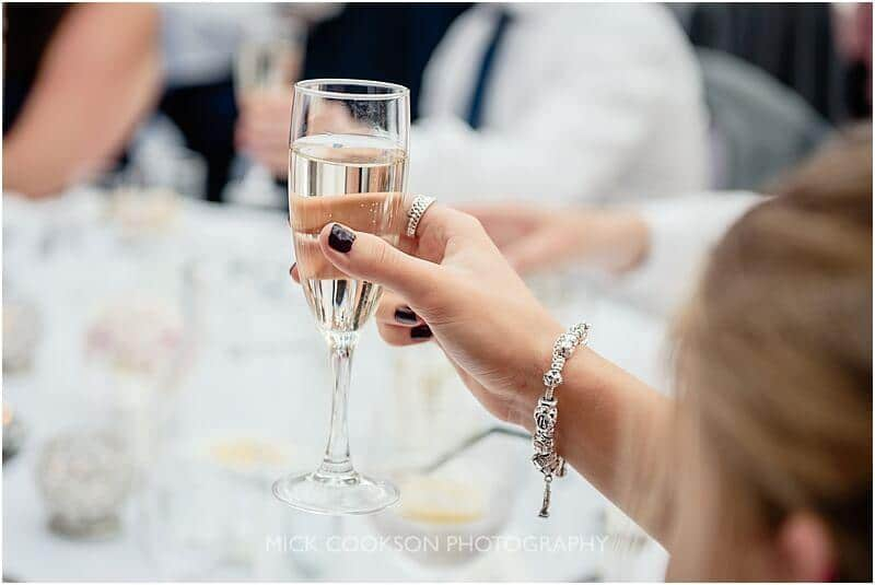champagne at a stirk house wedding