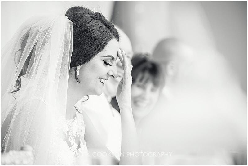 bride at stirk house wedding