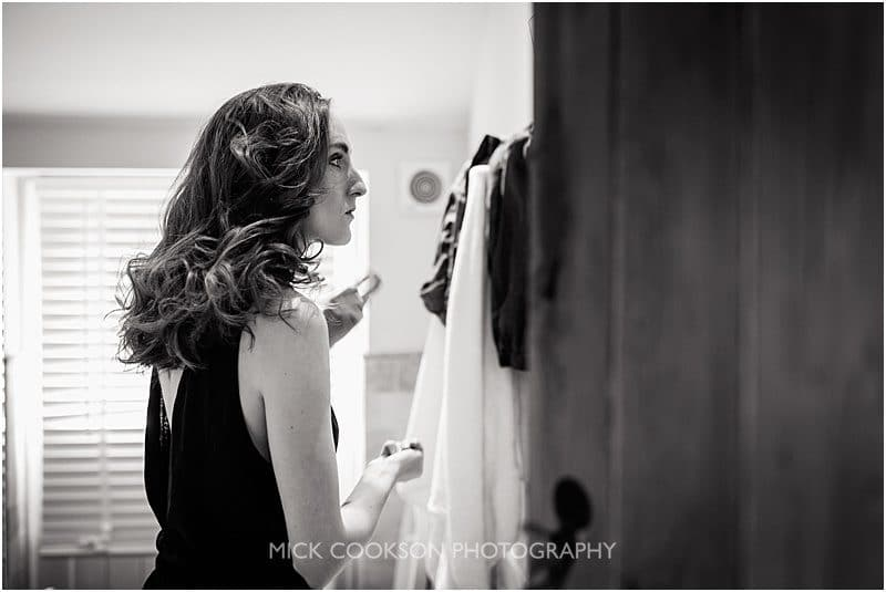 wedding guest getting ready