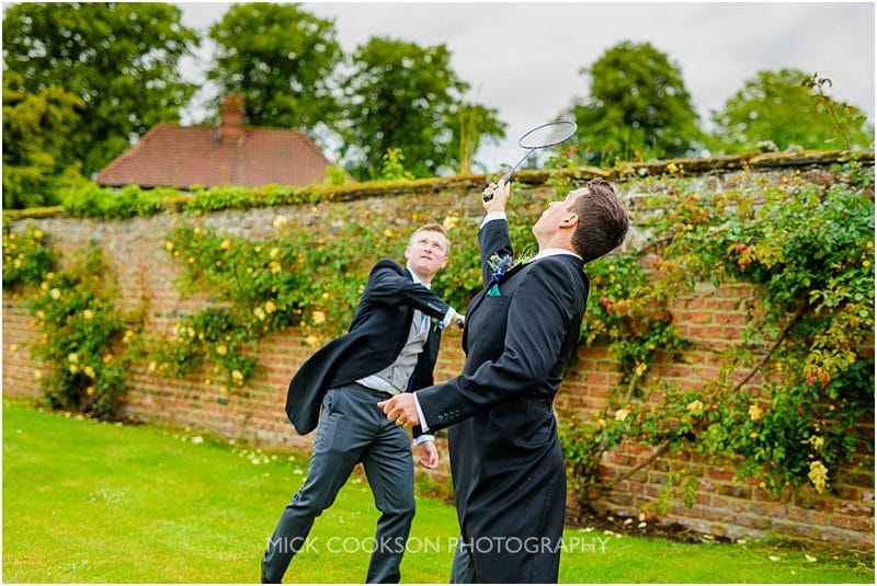 badminton at a marquee wedding in york