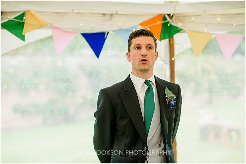 toastmaster at a marquee wedding in york