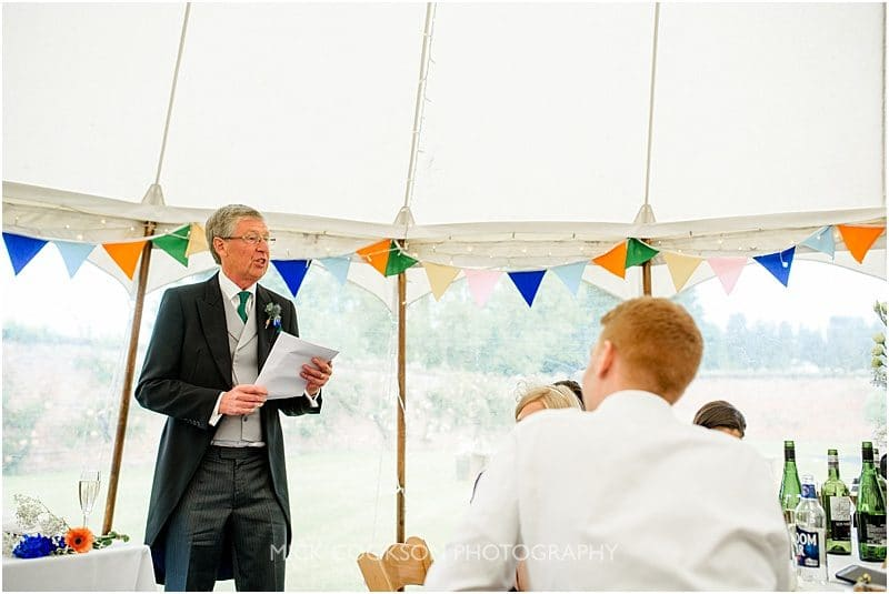 fatehr of the bride speech at a marquee wedding in york