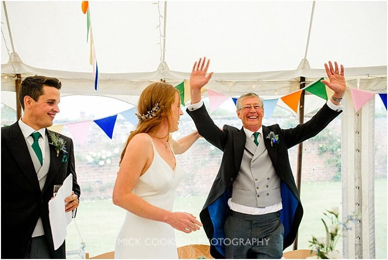 speeches at a marquee wedding in york