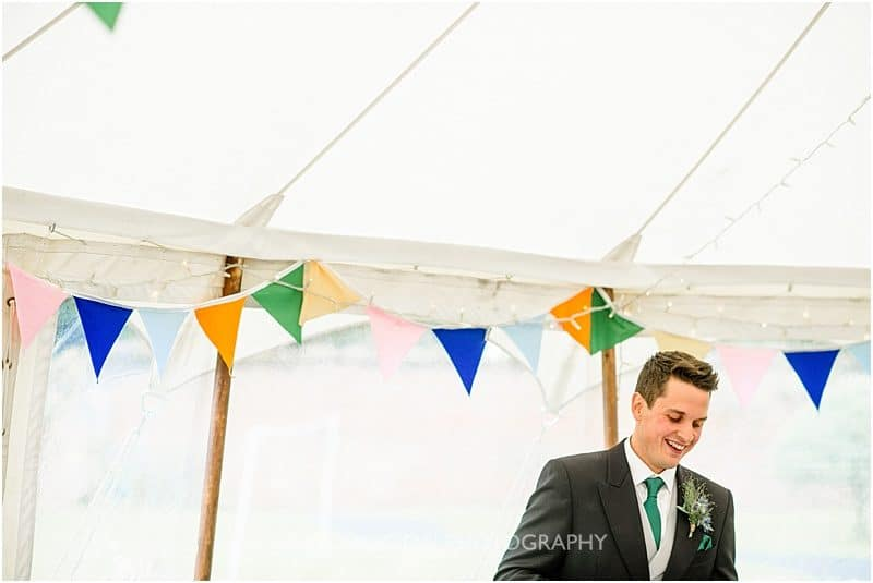 stylish groom photo at a marquee wedding in york