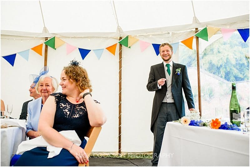 best man speech at a marquee wedding in york