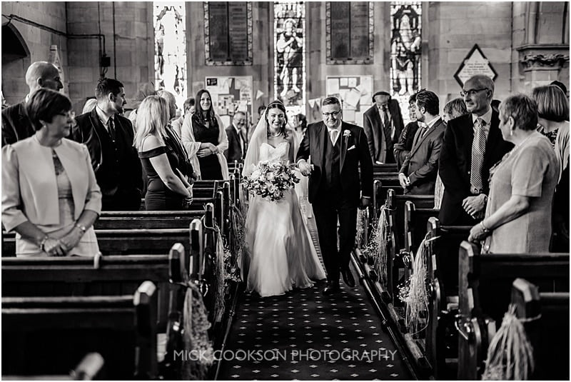 arrival of the bride at christ church