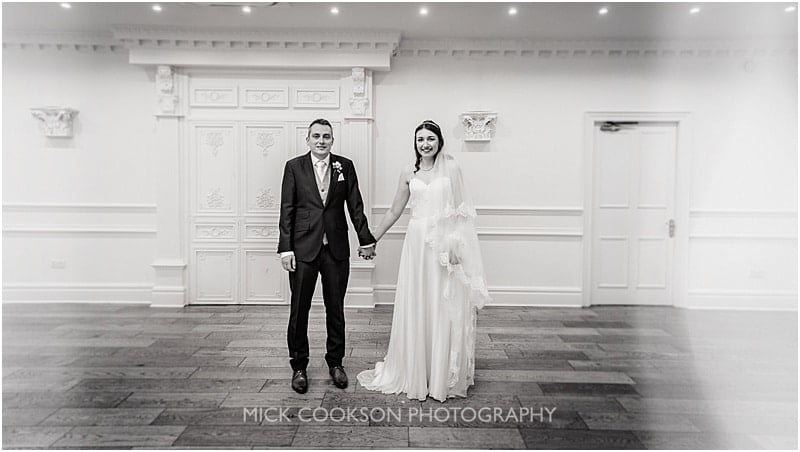 stylish bride and groom photo at ashfield house