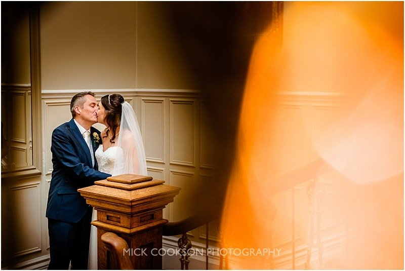 bride and groom at ashfield house