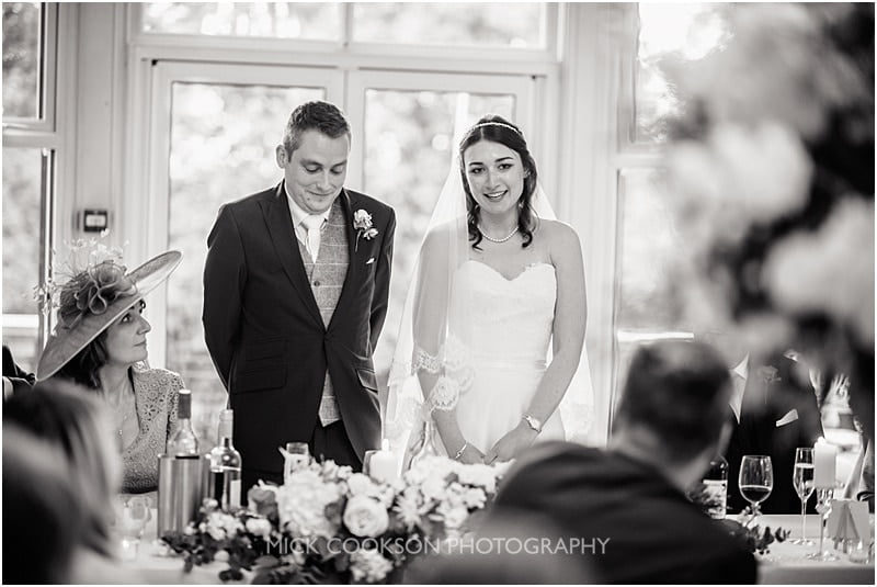 joint bride and groom wedding speech at ashfield house