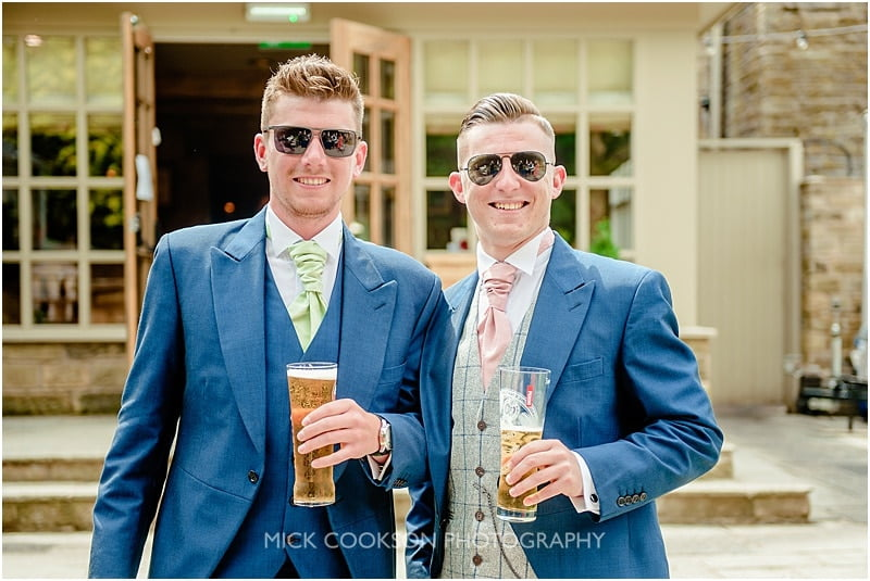 groom and best man at the devonshire arms