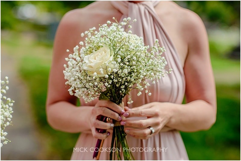 gypsophelia bridesmaid wedding bouquet