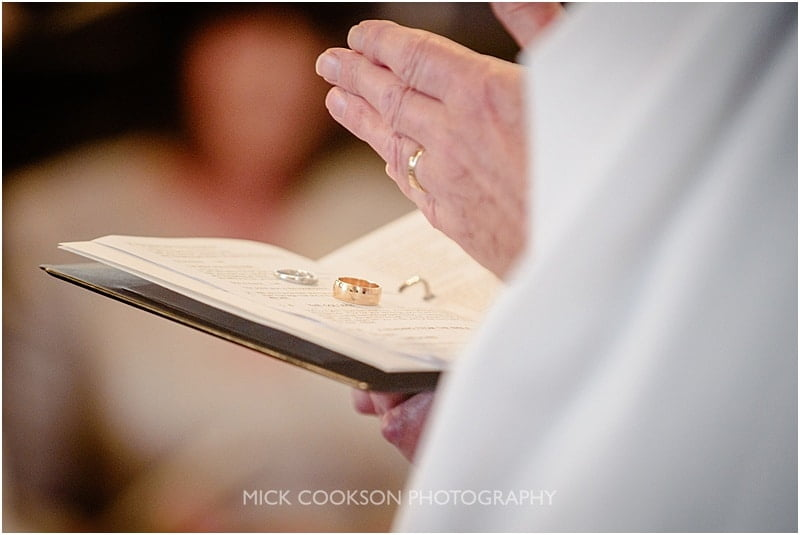 wedding rings in church