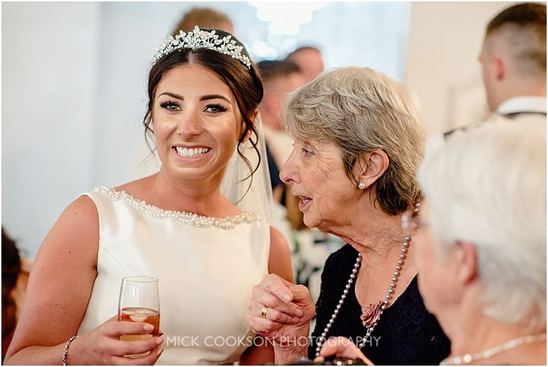 happy bride at a deanwater hotel wedding