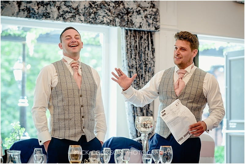 best mens wedding speech at the deanwater hotel