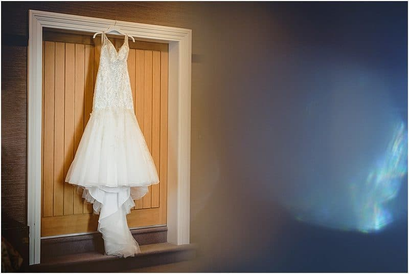 wedding dress at a falcon manor wedding