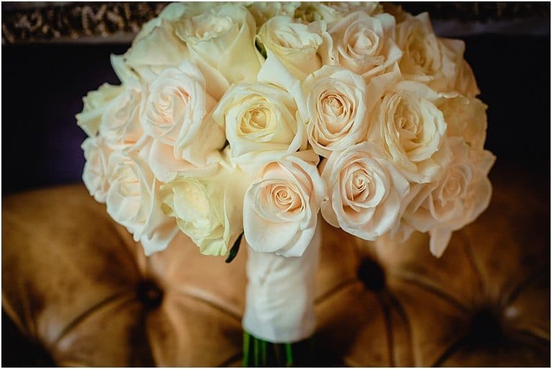 wedding bouquet at a falcon manor wedding