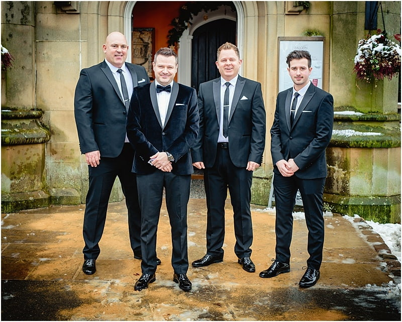 grooms men photo at falcon manor
