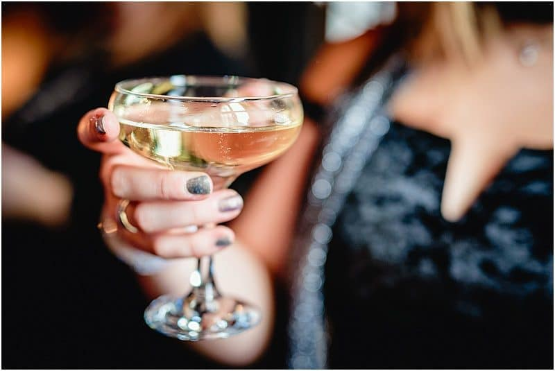 champagne toast at a falcon manor wedding