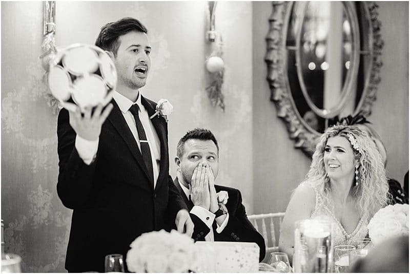 emotional speeches at a falcon manor wedding
