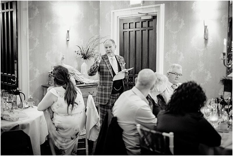 groom speech at a falcon manor wedding