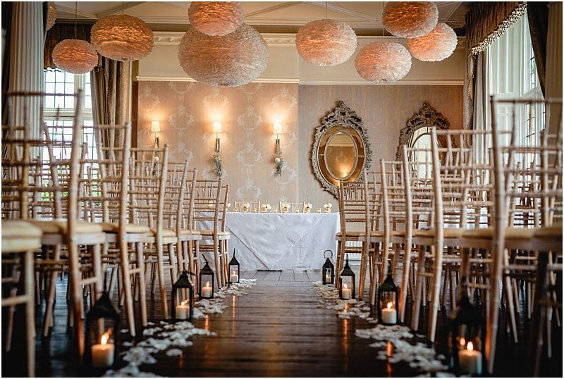 falcon manor wedding ceremony room