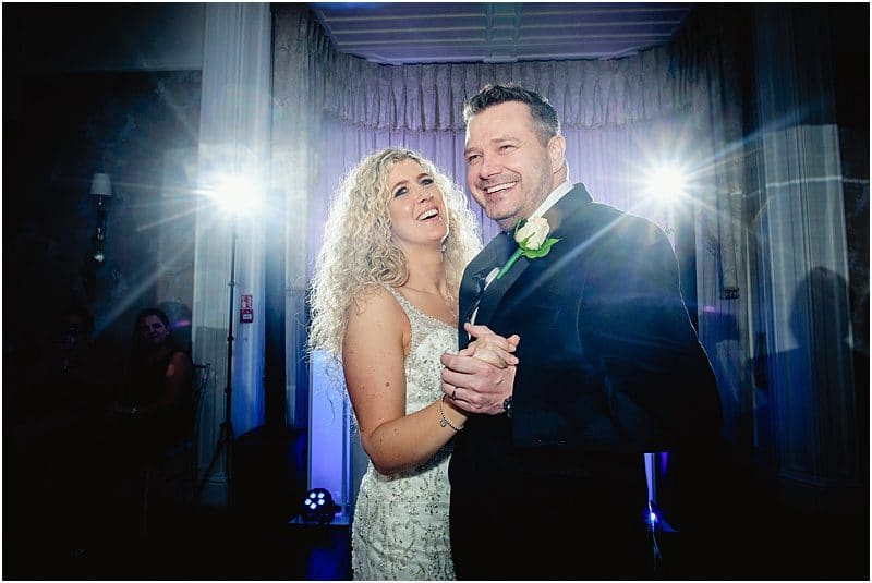 first dance photo at falcon manor