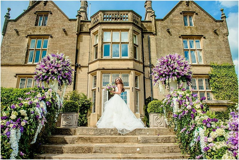 stunning bride at falcon manor