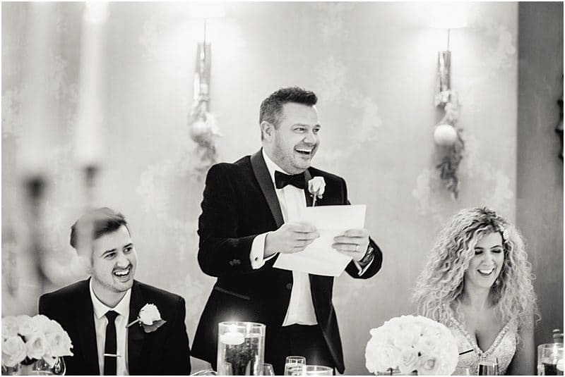 happy groom speech at his falcon manor wedding