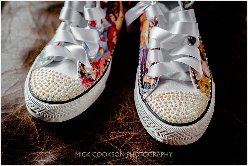 bride's converse wedding shoes