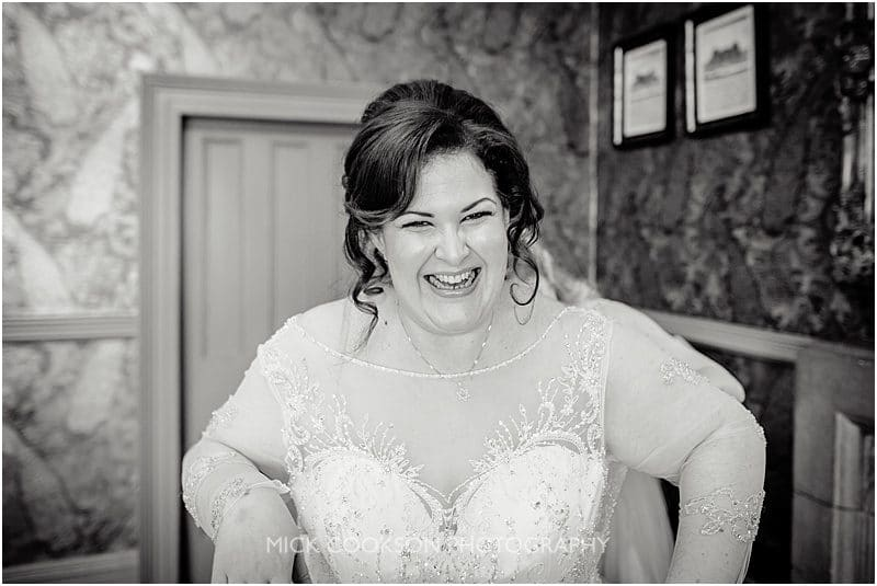 stunning bride at mitton hall