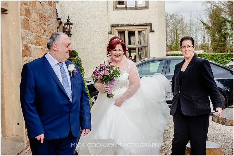 jewish bride and father at mitton hall