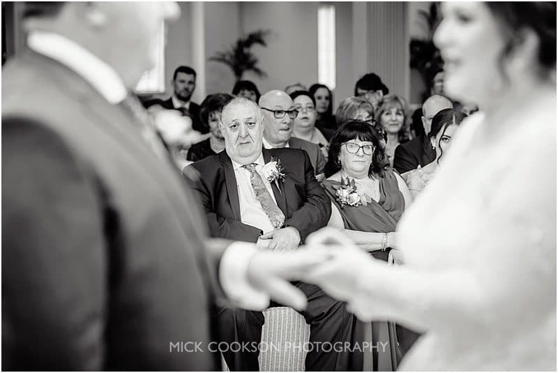 emotional parents at a jewish wedding