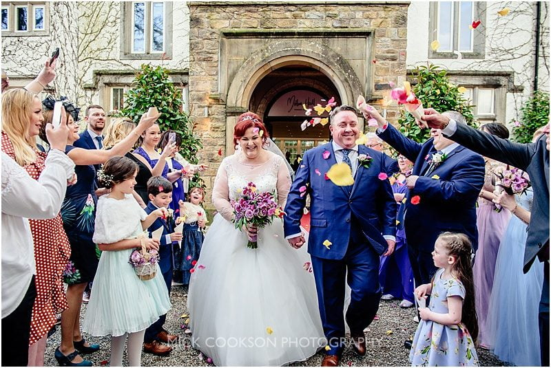 confetti throw at mitton hall