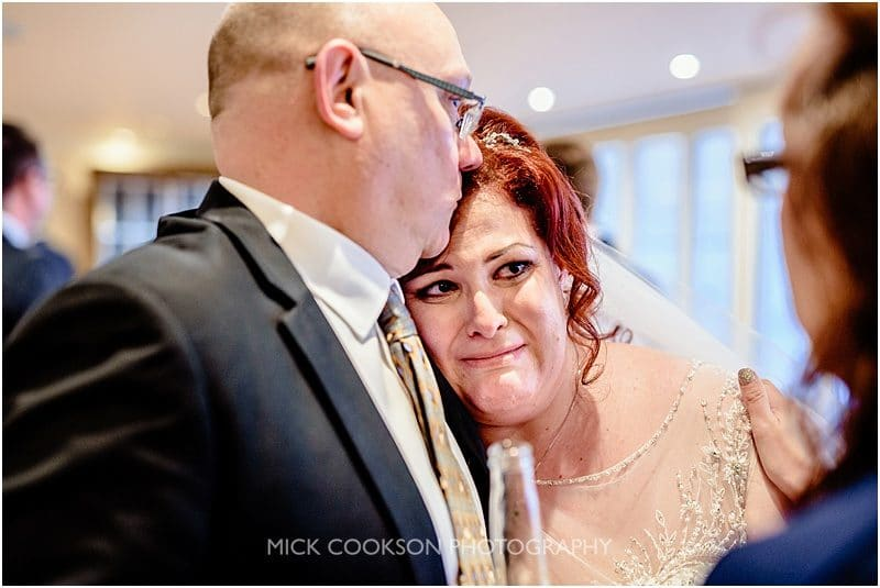 emotional bride at mitton hall