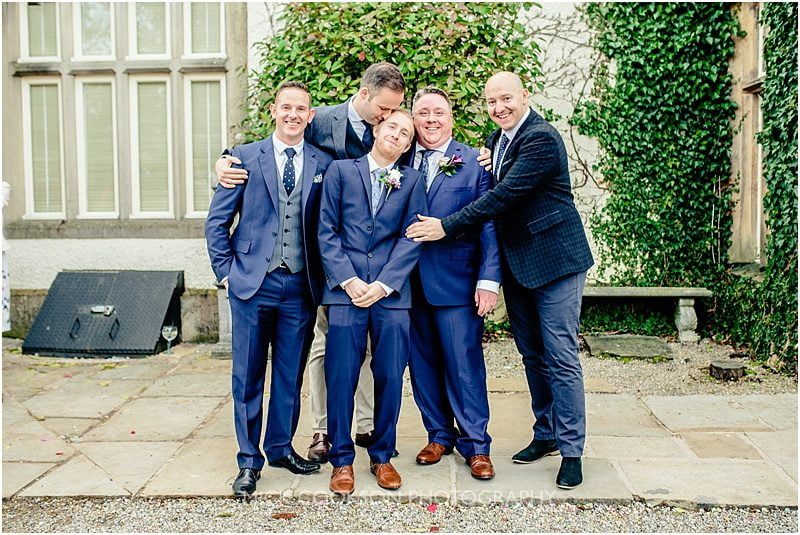 groomsmen photo at mitton hall